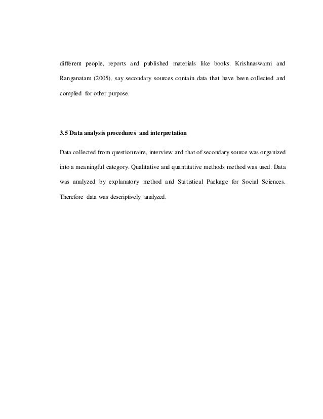 Dissertation Data Analysis Section
