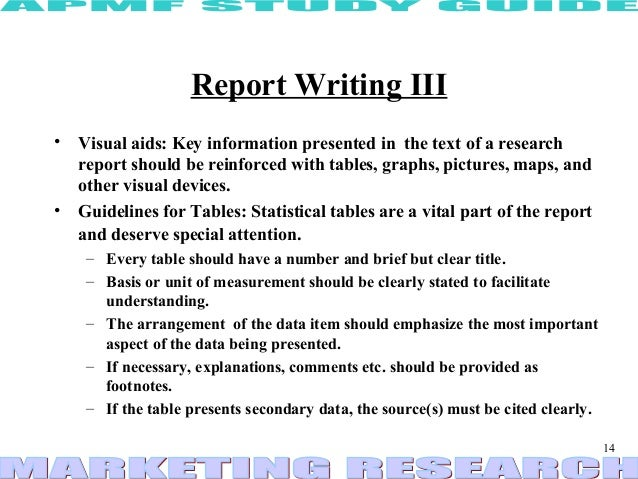 Report writing business research methods