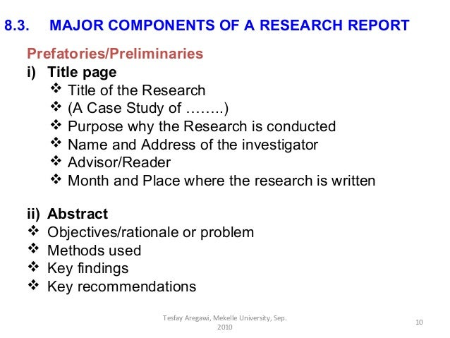 Components of research paper