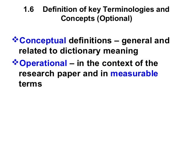definition of terms in research papers The term methodology may also be used to refer to the study of various methods and not the methods themselves methodology is the way in which information is found or the way the research is done methodology includes the techniques, methods, and procedures which are used for collecting and analyzing information.