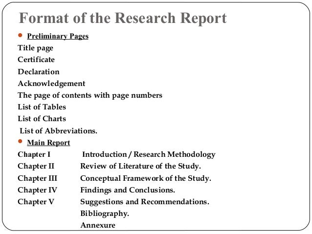 How to prepare research report
