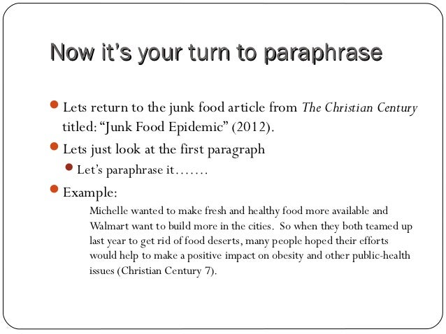 How to paraphrase for a research paper?