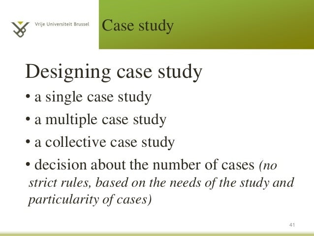 The difference between a case study and single case