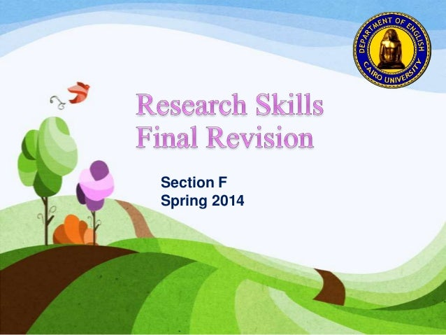 Research skills final revision