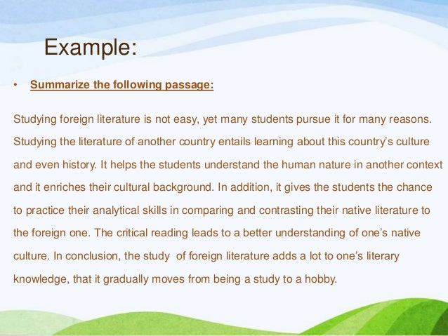Can anyone revise the following passage?