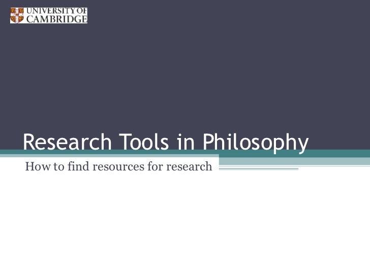 Research skills in philosophy for graduates