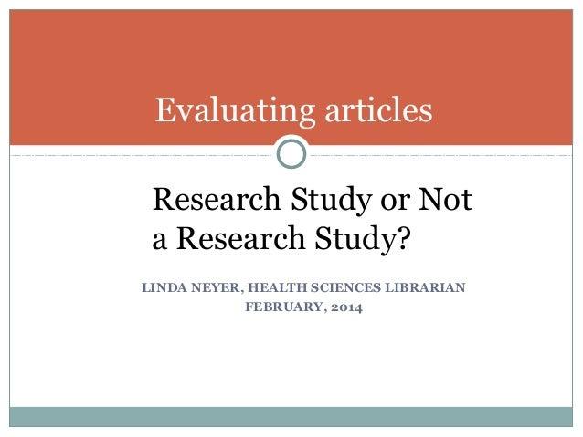 Identifying Nursing Research Studies