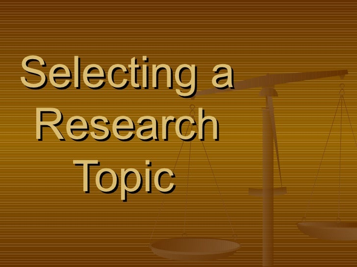 Research topic analysis