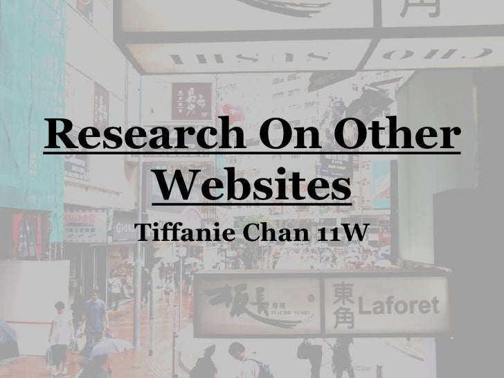 Research On Hong Kong Tourism Websites