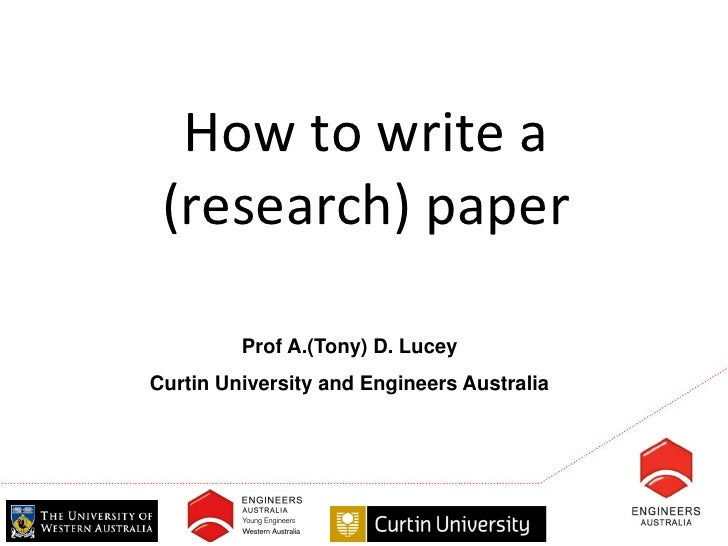 Software Engineering how to write an a research paper