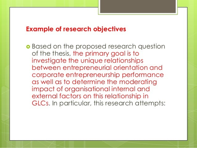 entrepreneurial orientation thesis literature However, the strategic management literature have produced a  entrepreneurial orientation is a culture of innovativeness, proactiveness, risk-taking,.