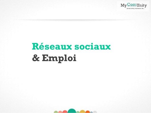 Réseaux sociaux & Emploi «