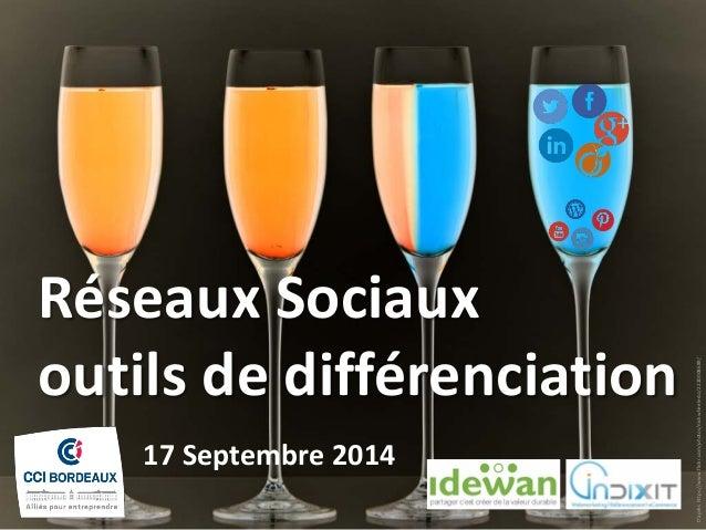 Réseaux Sociaux outils de différenciation  17 Septembre 2014  D'après https://www.flickr.com/photos/nickwheeleroz/22200086...