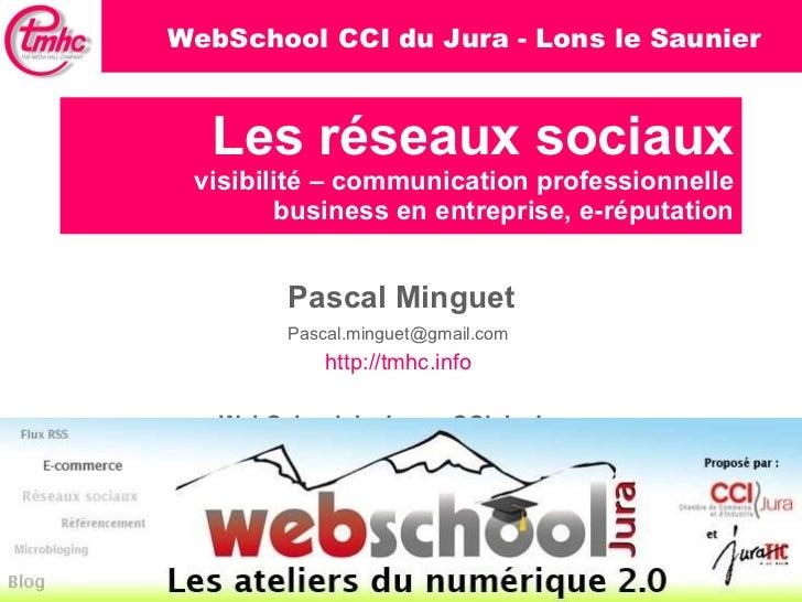 Les réseaux sociaux visibilité – communication professionnelle business en entreprise, e-réputation Pascal Minguet [email_...