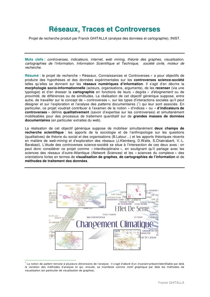 Réseaux, Traces et Controverses    Projet de recherche produit par Franck GHITALLA (analyse des données et cartographie), ...