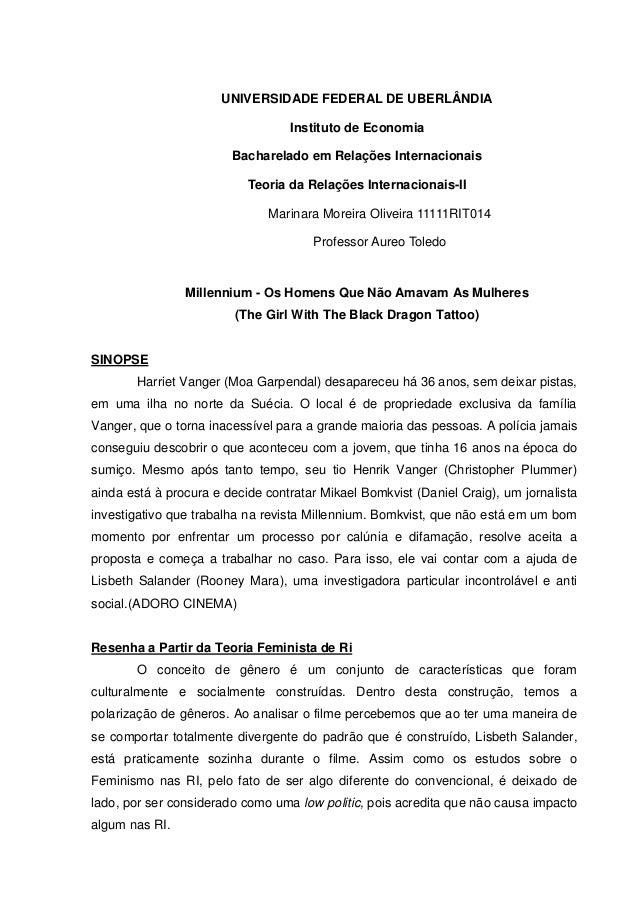 UNIVERSIDADE FEDERAL DE UBERLÂNDIA                                  Instituto de Economia                        Bacharela...