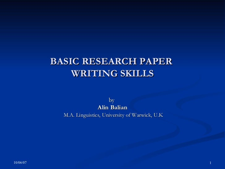 I need to write term paper on writing skill?