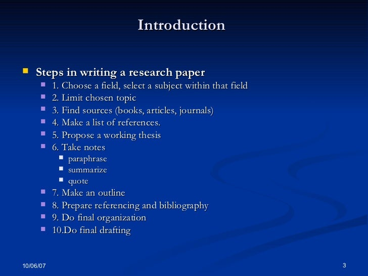 Reserch Methods How To Write An Academic Paper