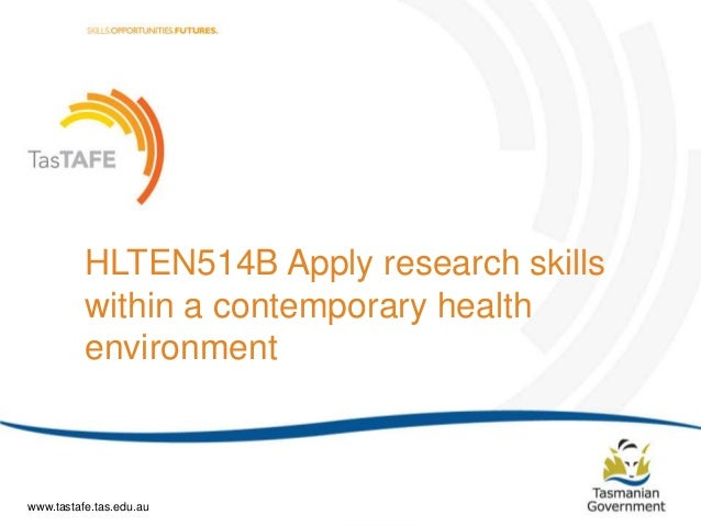Document Title (Editable via ‗Slide Master') | Page 1 HLTEN514B Apply research skills within a contemporary health environ...