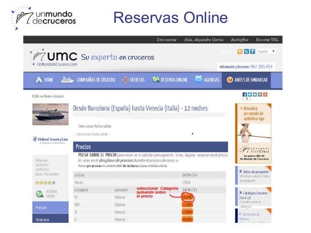 Reserva online Un Mundo de Cruceros