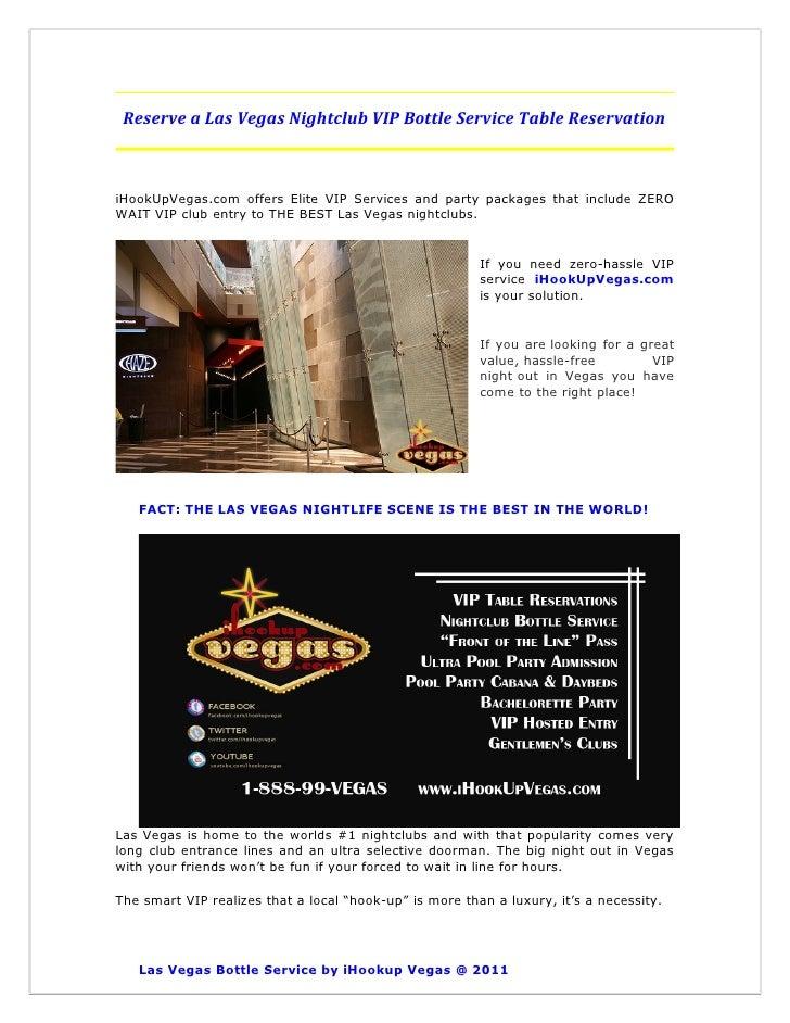 Reserve a Las Vegas Nightclub VIP Bottle Service Table Reservation
