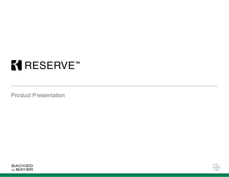 Reserve Presentation