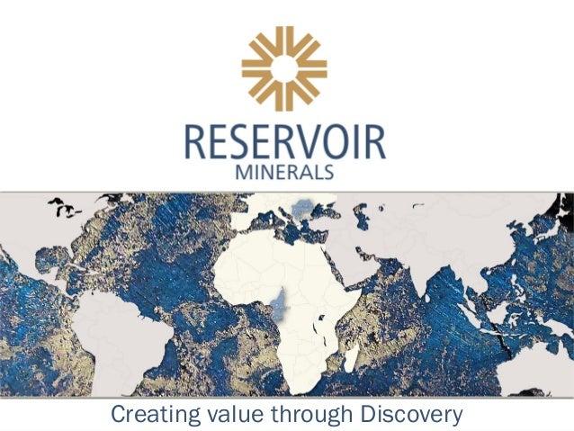 Reservoir Minerals Presentation - November 2012