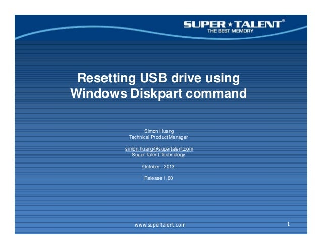 how to make usb readable with diskpart