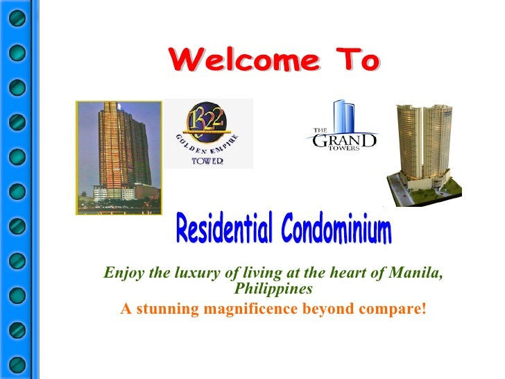 Welcome To Enjoy the luxury of living at the heart of Manila, Philippines A stunning magnificence beyond compare! Resident...