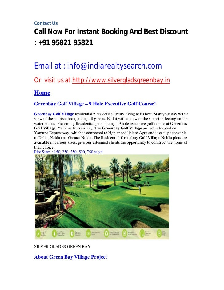 Residential plots available at silver glads green bay project greater noida
