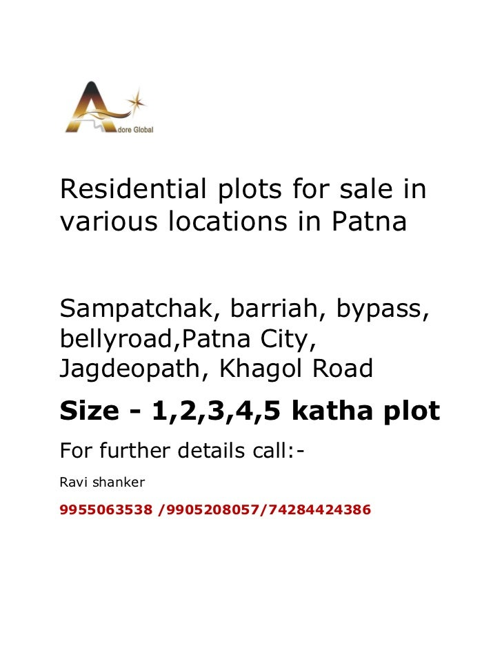 Residential plots  for sale in patna 9955063538