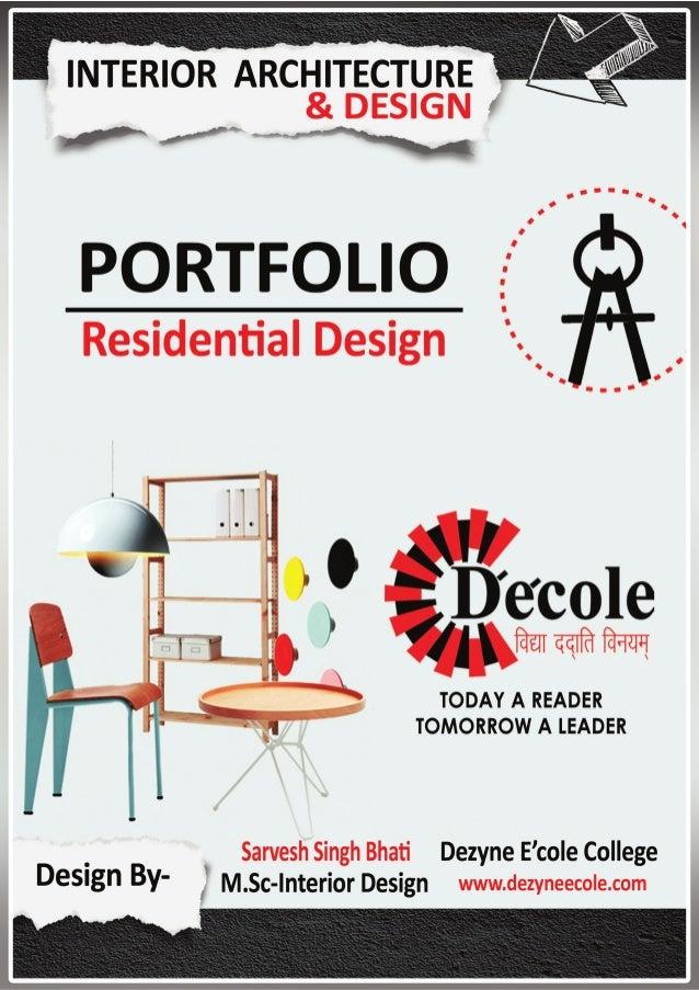 Sarvesh Singh Bhati M Sc Interior Design Residential
