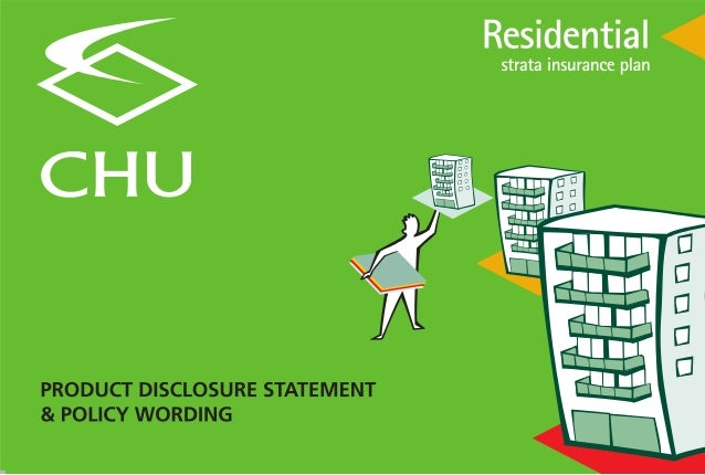 Residential Strata PDS (Product Disclosure Statement / Policy Wording)