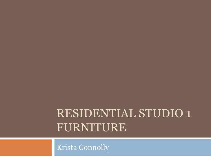 Residential Studio 1 Furniture