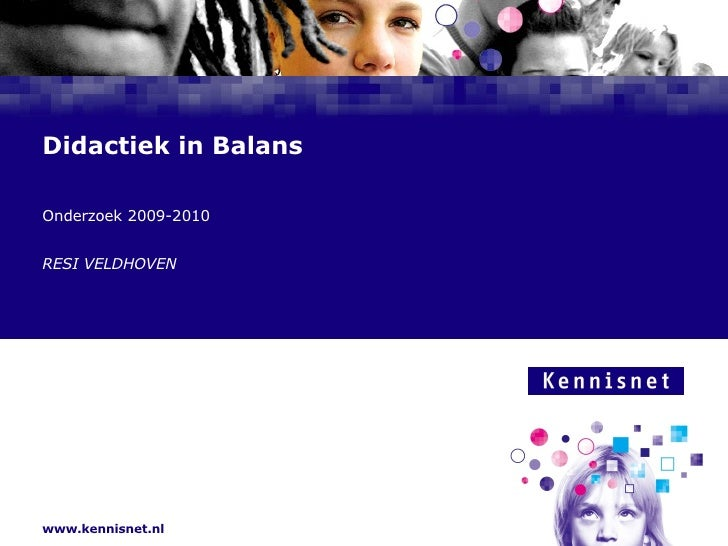 Didaktiek In Balans Samendeskundiger 2009 2010