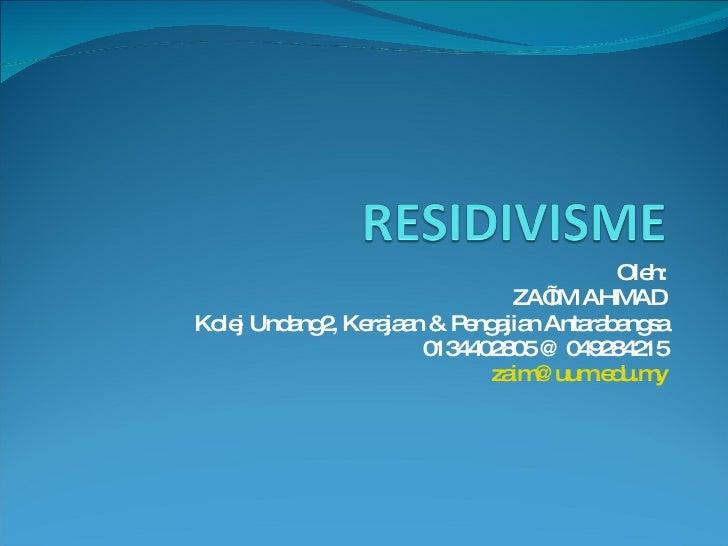 Residivisme Bab 1 Syr5013