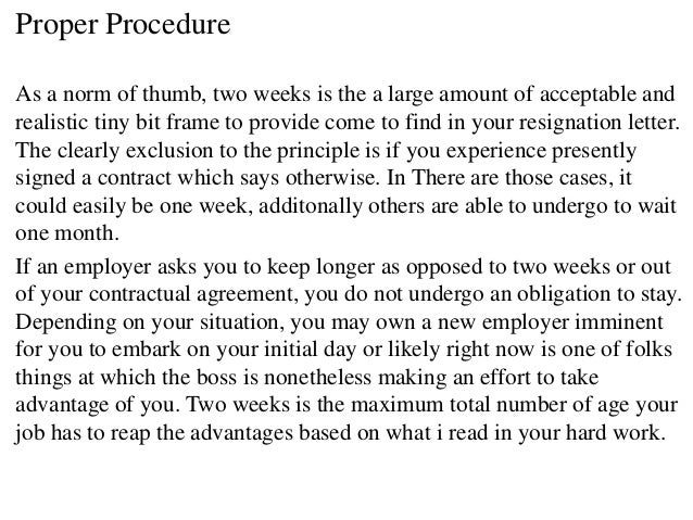two week notice letter examples