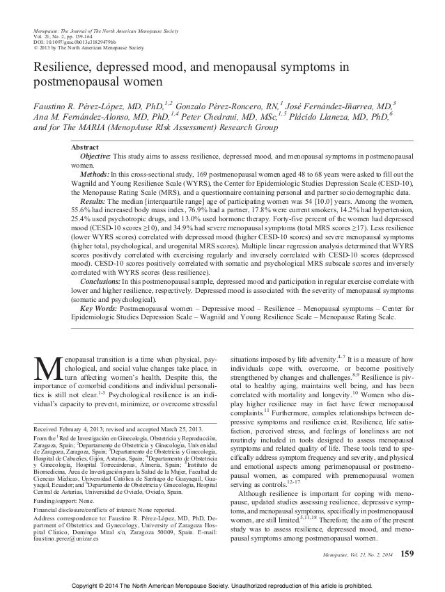 Menopause: The Journal of The North American Menopause Society Vol. 21, No. 2, pp. 159/164 DOI: 10.1097/gme.0b013e31829479...