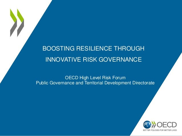 BOOSTING RESILIENCE THROUGH INNOVATIVE RISK GOVERNANCE OECD High Level Risk Forum Public Governance and Territorial Develo...