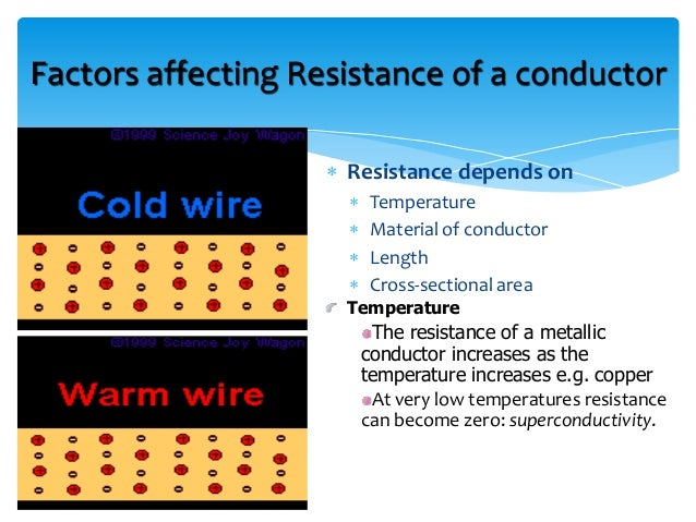 How does the temperature of a wire affect its' resistance?