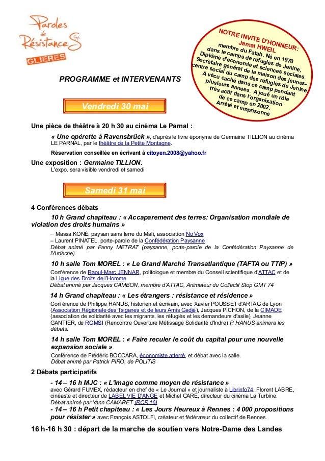 Une pièce de théâtre à 20 h 30 au cinéma Le Parnal : « Une opérette à Ravensbrück », d'après le livre éponyme de Germaine ...