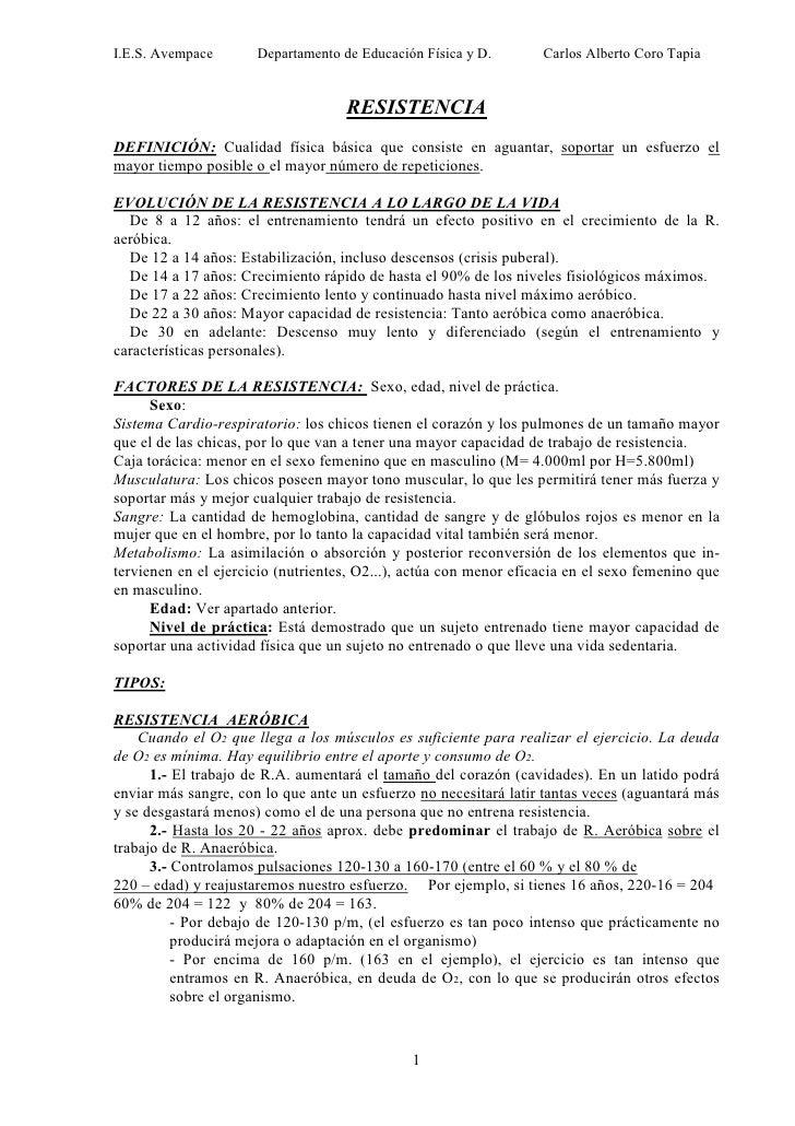 I.E.S. Avempace       Departamento de Educación Física y D.        Carlos Alberto Coro Tapia                              ...