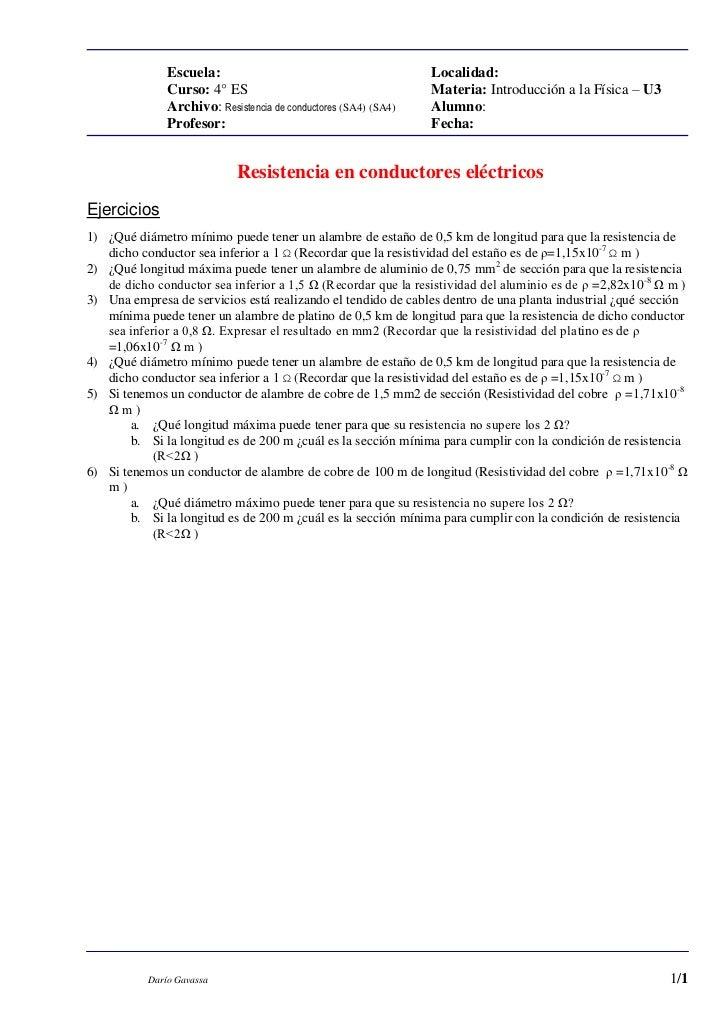 Resistencia de conductores (sa4)