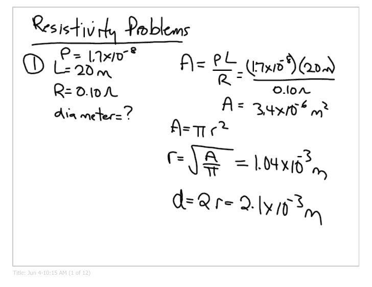 Resistivity & Circuits
