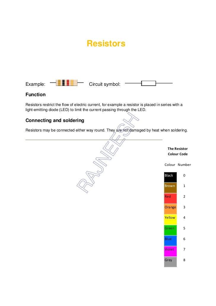 Resistors & capacitors