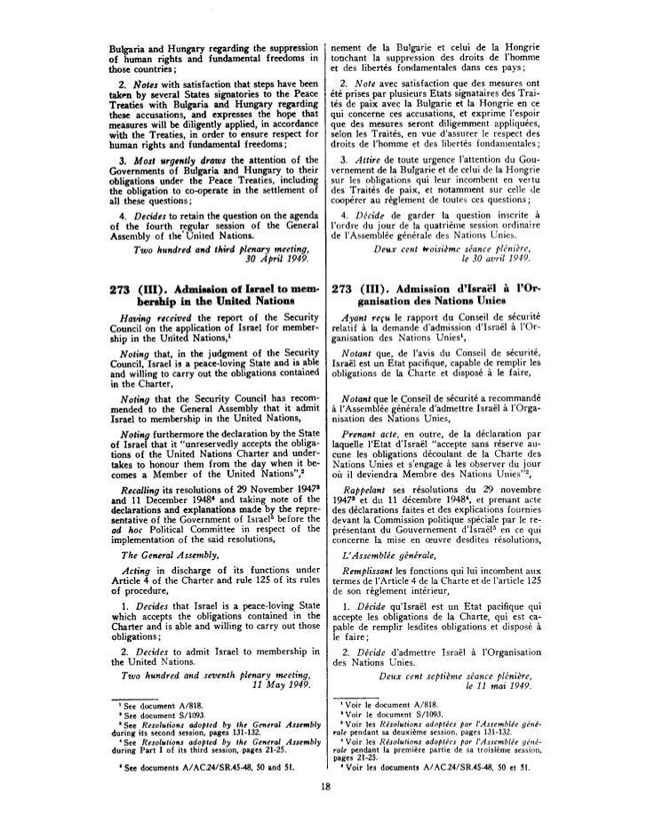 Resolucao 273 11 maio 1949
