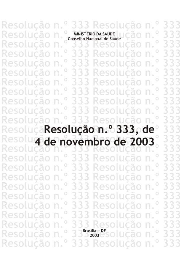 Resolucao nº 333