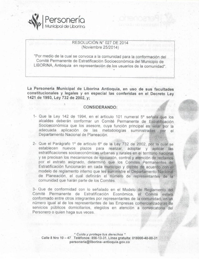 Resolución personeria