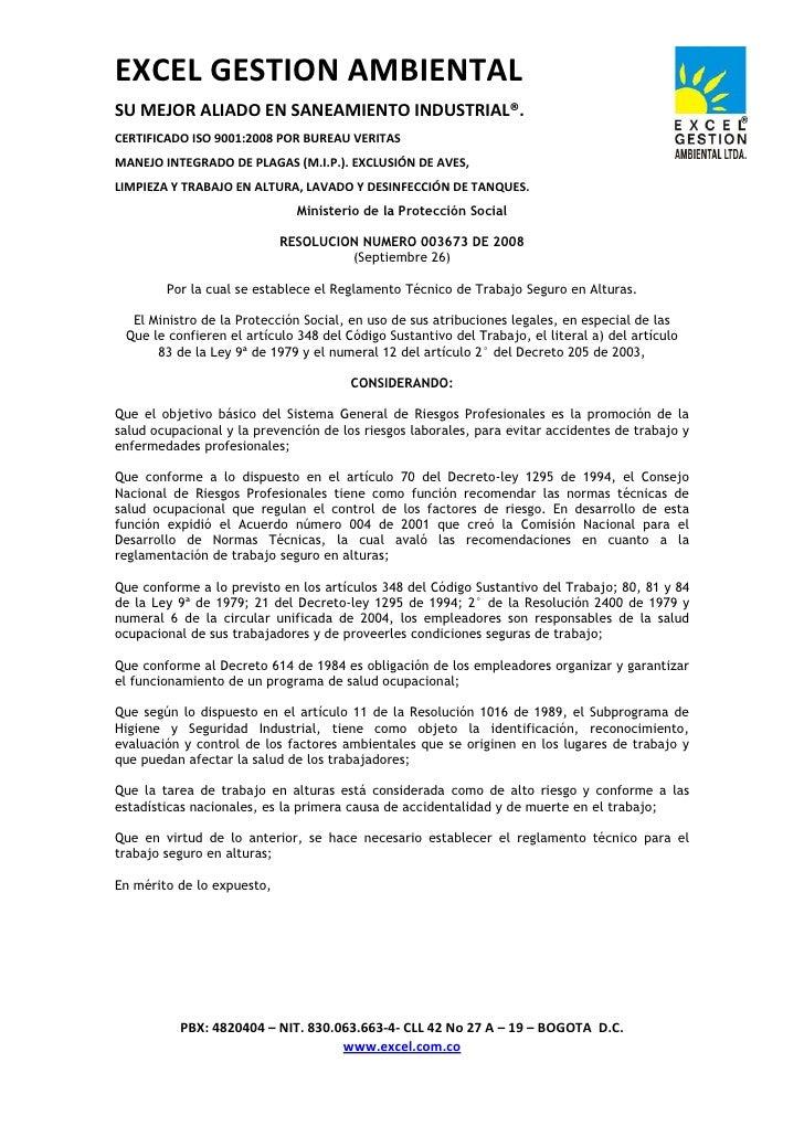 EXCEL GESTION AMBIENTAL SU MEJOR ALIADO EN SANEAMIENTO INDUSTRIAL®. CERTIFICADO ISO 9001:2008 POR BUREAU VERITAS MANEJO IN...