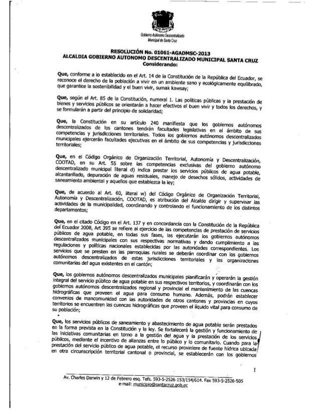Adjudicación a CONDRAIARSA la construcción del Agua Potable y Alcaltarillado para Santa Cruz